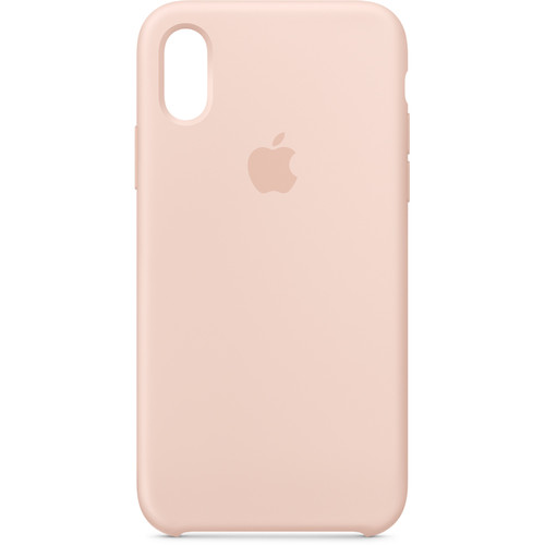 Apple iPhone Xs Silicone Case (Pink Sand)
