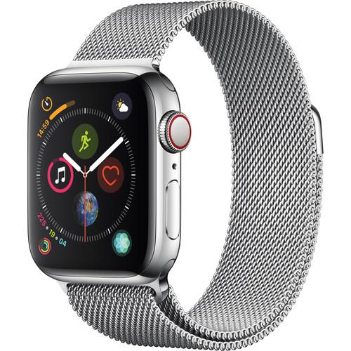 Apple Watch Series 4 (GPS + Cellular, 40mm, Stainless Steel, Milanese Loop)