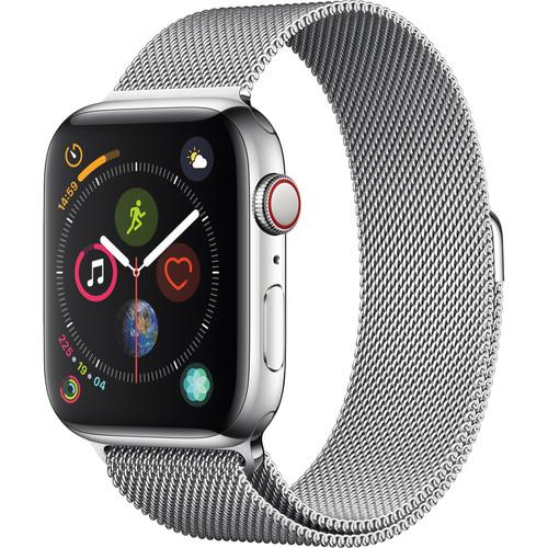 Apple Watch Series 4 (GPS + Cellular, 44mm, Stainless Steel, Milanese Loop)