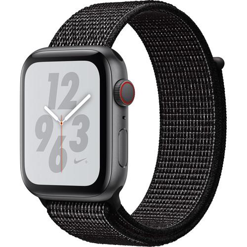 Apple Watch Nike+ Series 4 (GPS + Cellular, 44mm, Space Gray Aluminum, Black Nike Sport Loop)