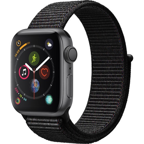 Apple Watch Series 4 (GPS Only, 40mm, Space Gray Aluminum, Black Sport Loop)