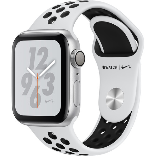 Apple Watch Nike+ Series 4 (GPS Only, 40mm, Silver Aluminum, Pure Platinum/Black Nike Sport Band)