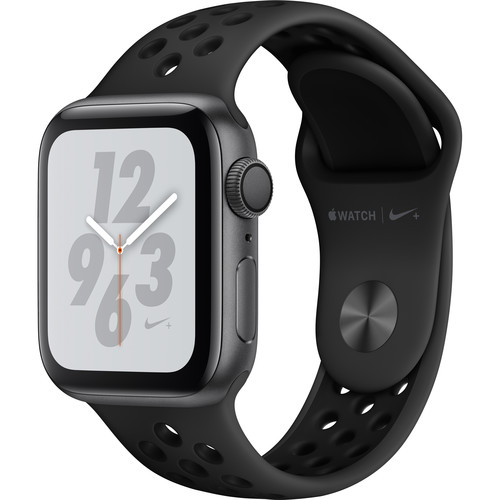 Apple Watch Nike+ Series 4 (GPS Only, 40mm, Space Gray Aluminum, Anthracite/Black Nike Sport Band)