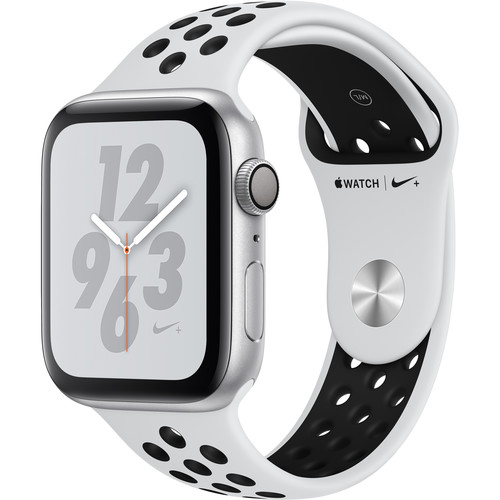 Apple Watch Nike+ Series 4 (GPS Only, 44mm, Silver Aluminum, Pure Platinum Nike Sport Band)