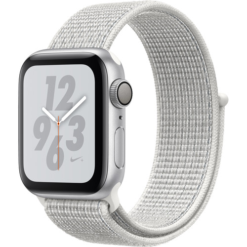 Apple Watch Nike+ Series 4 (GPS Only, 40mm, Silver Aluminum, Summit White Nike Sport Loop)