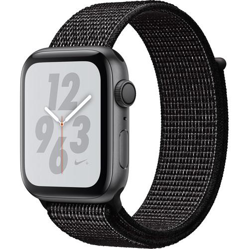 Apple Watch Nike+ Series 4 (GPS Only, 44mm, Space Gray Aluminum, Black Nike Sport Loop)