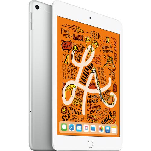 """Apple 7.9"""" iPad mini (Early 2019, 64GB, Wi-Fi + 4G LTE, Silver)"""