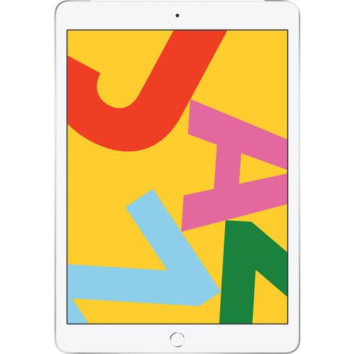 """Apple 10.2"""" iPad (Late 2019, 128GB, Wi-Fi + 4G LTE, Silver)"""