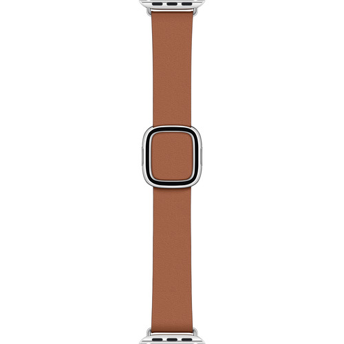 Apple Modern Buckle Band for Apple Watch (40mm, Medium, Saddle Brown)