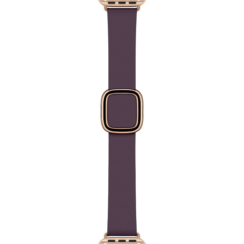 Apple Modern Buckle Band for Apple Watch (40mm, Large, Aubergine)