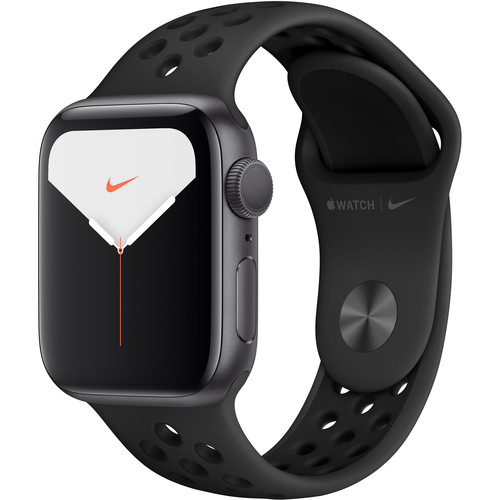 Apple Watch Series 5 (Nike+/GPS Only, 40mm, Space Gray Aluminum, Anthracite/Black Nike Sport Band)
