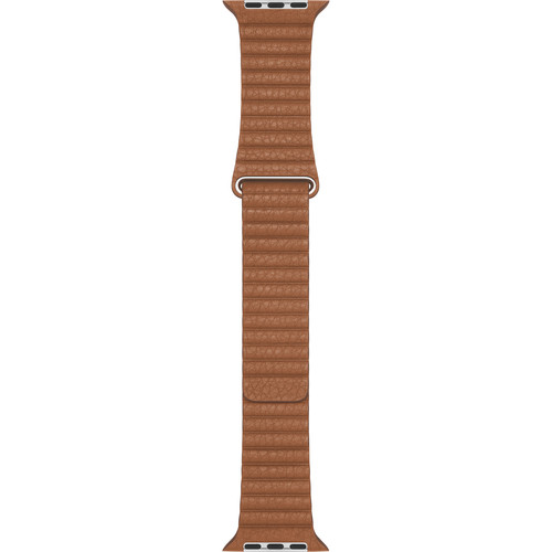 Apple Leather Loop Band for Apple Watch (44mm, Medium, Saddle Brown)