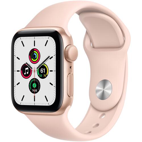 Apple Watch SE (GPS, 40mm, Gold Aluminum, Pink Sand Sport Band)