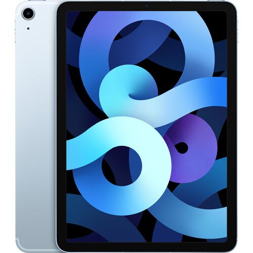 """Apple 10.9"""" iPad Air (4th Gen, 256GB, Wi-Fi + 4G LTE, Sky Blue)"""