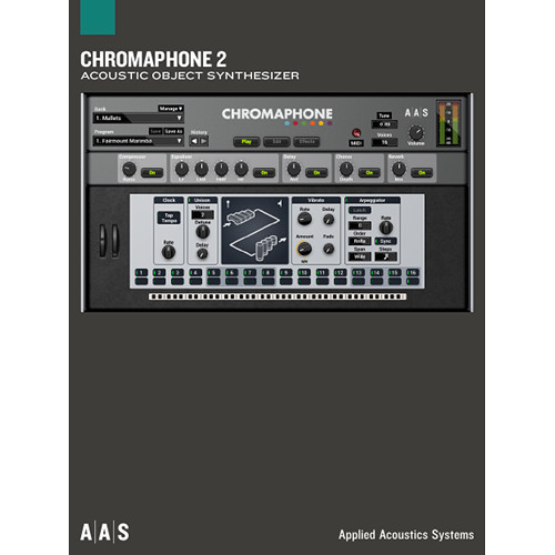 Applied Acoustics Systems Chromaphone 2 + Packs - Acoustic Object Synthesizer Plug-In and Sound Banks Bundle (Download)