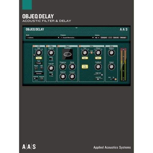 Applied Acoustics Systems Objeq - Delay Plug-In (Download)
