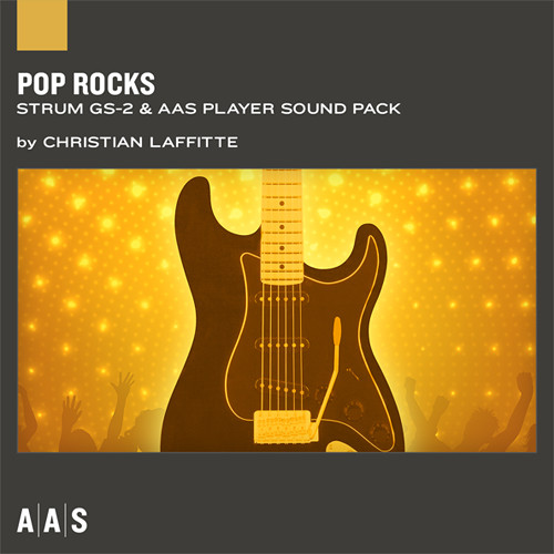Applied Acoustics Systems Pop Rocks Guitar Sound Pack for Strum GS-2 and AAS Player (Download)