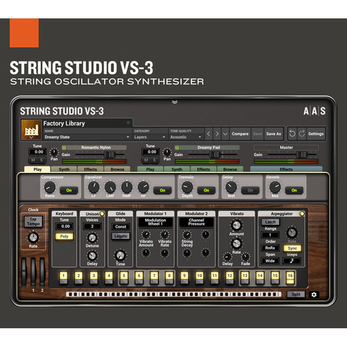Applied Acoustics Systems String Studio VS-3 String Modeling Synth Bundle with Assorted Sound Packs (Download)