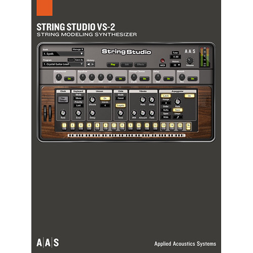 Applied Acoustics Systems String Studio VS-2 + Packs String Modeling Synthesizer Plug-In and Sound Banks Bundle (Download)
