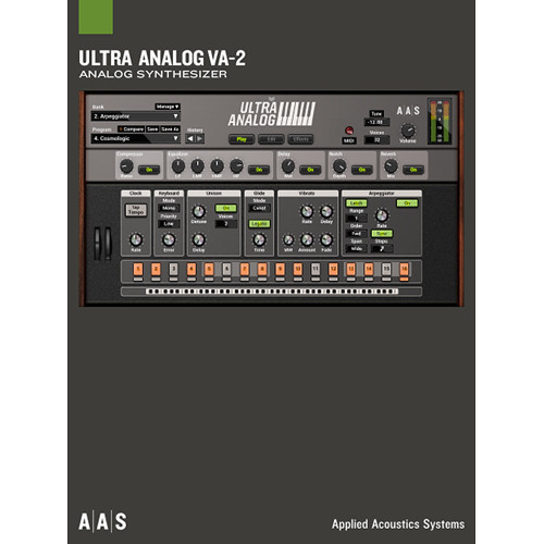 Applied Acoustics Systems Ultra Analog VA-2 + Packs Virtual Synthesizer Plug-In and Sound Banks Bundle (Download)