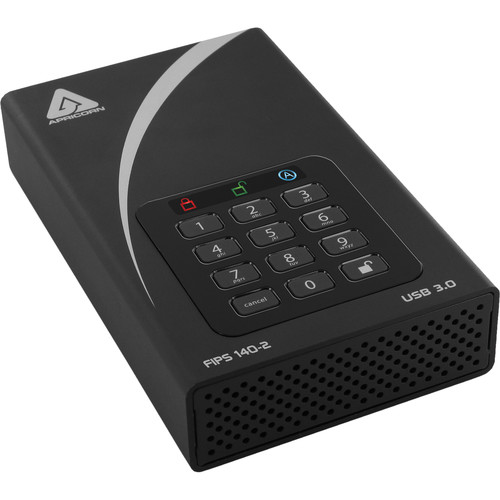 Apricorn 14TB Aegis Padlock DT FIPS 140-2 Level 2-Validated External Desktop Drive