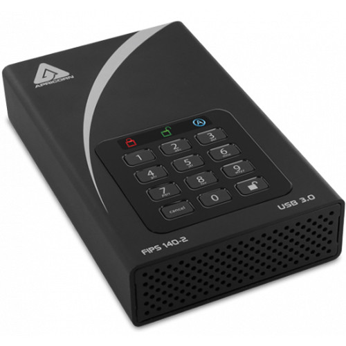 "Apricorn 3.5"" Aegis 10TB Padlock DT FIPS External Desktop Drive"