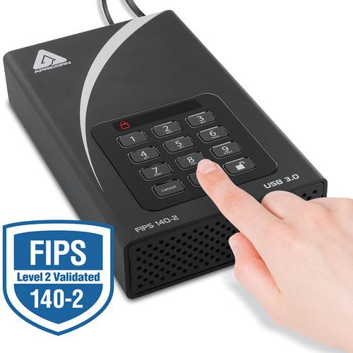 "Apricorn 3.5"" Aegis 3TB Padlock DT FIPS External Desktop Drive"