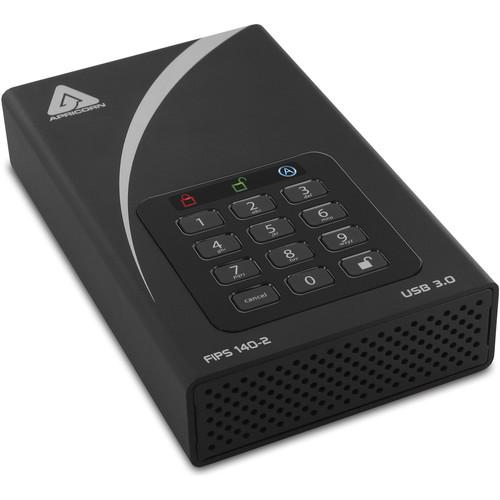 "Apricorn 3.5"" Aegis 6TB Padlock DT FIPS External Desktop Drive"