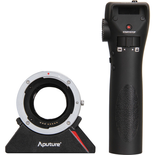 Aputure DEC Wireless Focus & Aperture Controller Lens Adapter for EF and EF-S-Mount Lenses to E-Mount Cameras