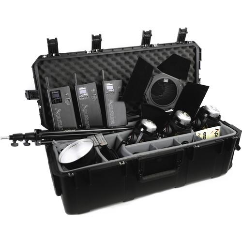 Aputure Light Storm LC 120d II Daylight LED 3-Light Kit with V-Mount Battery Plate