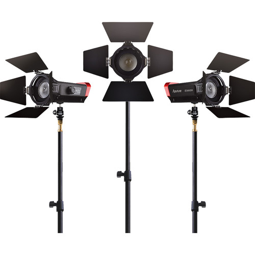Aputure LS-mini20 Bi-Color 3-Light Flight Kit with Stands
