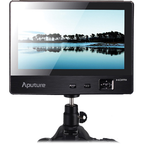 "Aputure VS-1 V-Screen 7"" IPS Field Monitor 800 x 480 Native Resolution, Dual Power Inputs, Sony L Series Type Battery Plate"