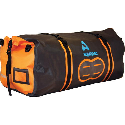 Aquapac 90L Upano Waterproof Duffel (Black, Orange)