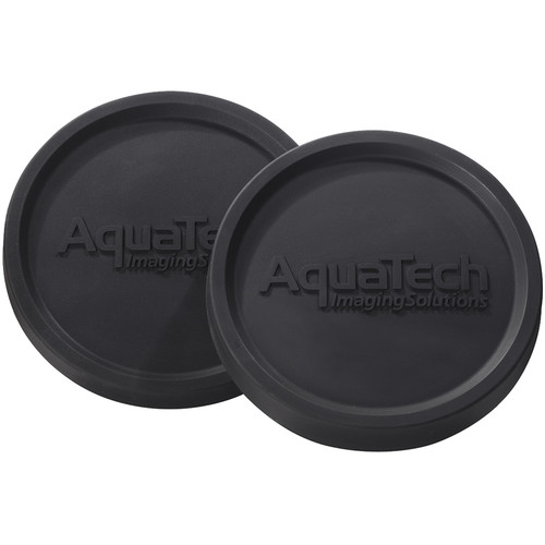 AquaTech Port Caps Set with 2 Front and 2 Rear Flat Port Covers