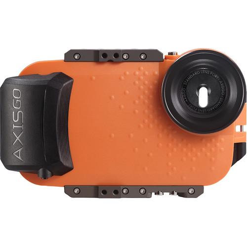 AquaTech AxisGO Water Housing for iPhone 7 Plus or 8 Plus (Sunset Orange)
