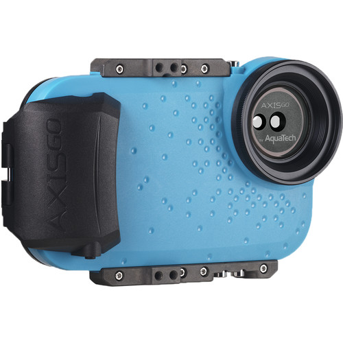 AquaTech AxisGO Water Housing for iPhone 11 Pro Max, 11, XS Max & XR (Electric Blue)