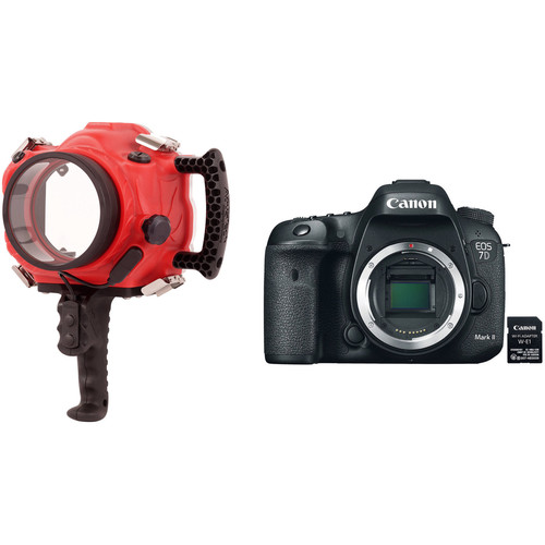 AquaTech Base 7D2 Underwater Sport Housing and Canon EOS 7D Mark II Camera Body Kit