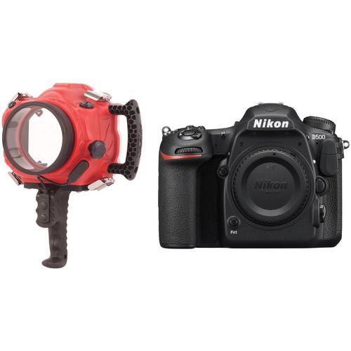 AquaTech Base D500 Underwater Sport Housing and Nikon D500 DSLR Camera Kit