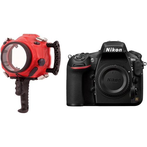 AquaTech Base D810 Underwater Sport Housing and Nikon D810 DSLR Camera Body Kit