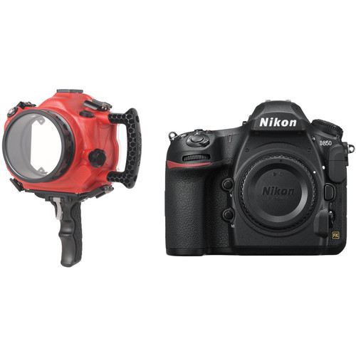 AquaTech Base II Underwater Housing and Nikon D850 DSLR Camera Body Kit