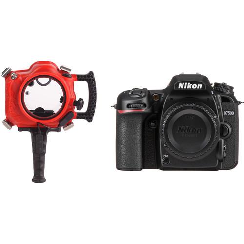 AquaTech Compac / Elite 7500 Underwater Housing and Nikon D7500 DSLR Camera Body Kit