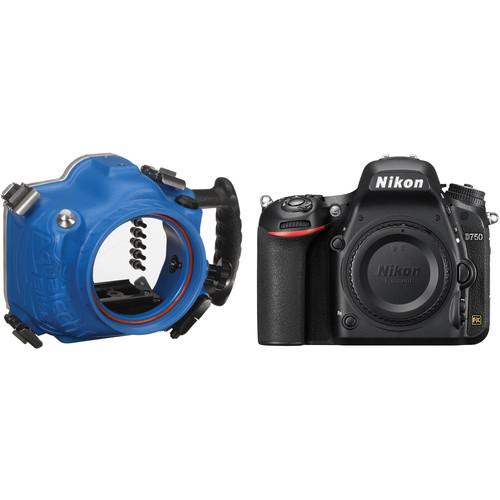 AquaTech Elite D 750 Underwater Sport Housing and Nikon D750 Camera Body Kit