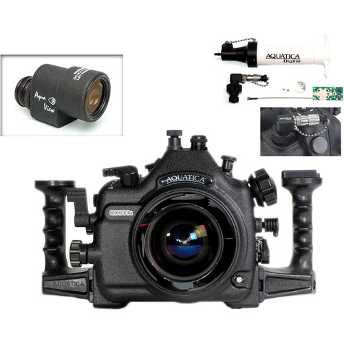 Aquatica AD300s Underwater Housing for Nikon D300s with Aqua VF and Vacuum Check System (Optical and Nikonos Strobe Connectors)