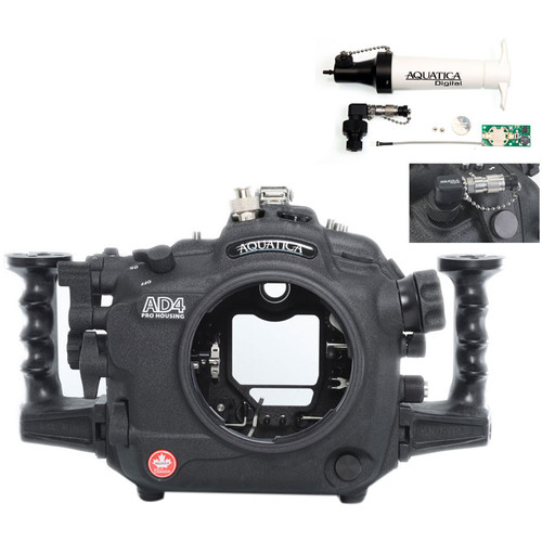 Aquatica AD4 Underwater Housing for Nikon D4 with Vacuum Check System (Ikelite TTL Strobe Connector)