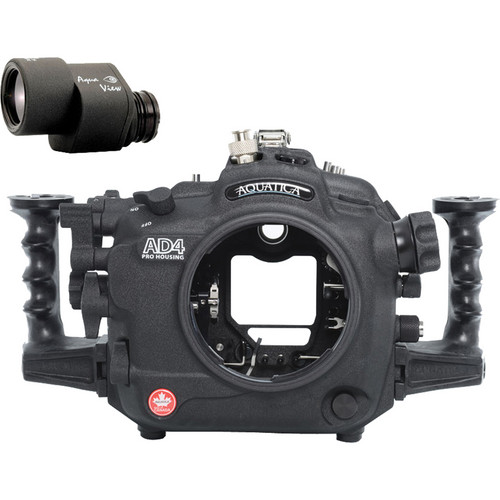 Aquatica AD4 Underwater Housing for Nikon D4 with Aqua VF (Ikelite TTL Strobe Connector)