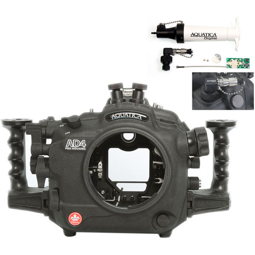 Aquatica AD4 Underwater Housing for Nikon D4 with Vacuum Check System (Dual Nikonos Strobe Connectors)