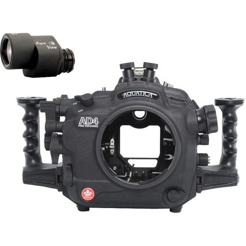 Aquatica AD4 Underwater Housing for Nikon D4 with Aqua VF (Dual Nikonos Strobe Connectors)