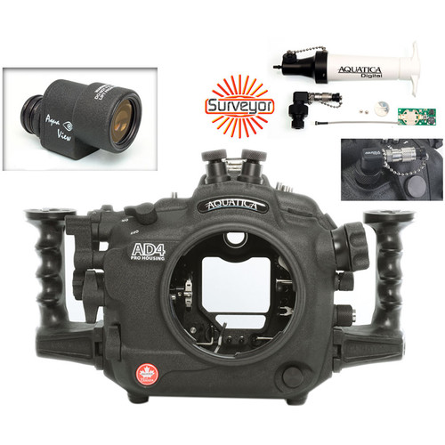 Aquatica AD4 Underwater Housing for Nikon D4 with Aqua VF and Vacuum Check System (Dual Nikonos Strobe Connectors)
