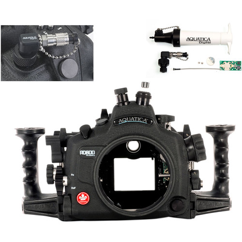 Aquatica AD800 Underwater Housing for Nikon D800 or D800E with Vacuum Check System (Nikonos and Fiber-Optic Strobe Connectors)