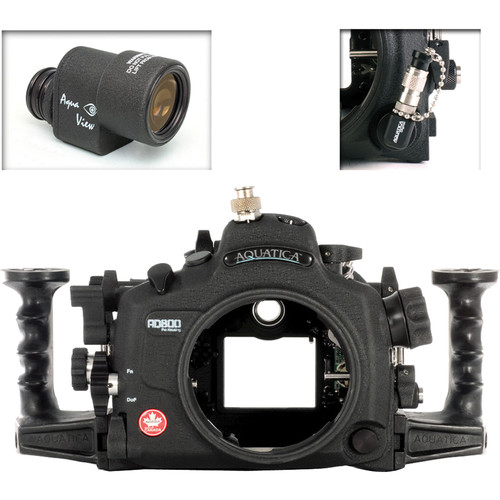 Aquatica AD800 Underwater Housing for Nikon D800 or D800E with Aqua VF and Vacuum Check System (Ikelite TTL Strobe Connector)